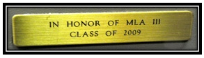 engraved brass plate