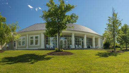 image of the Hutchinson Center on a sunny summer day