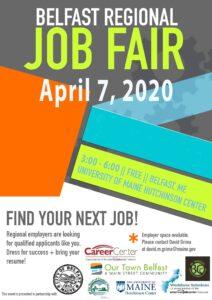 2020 Belfast Job Fair poster
