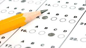 pencil filling out standardized test